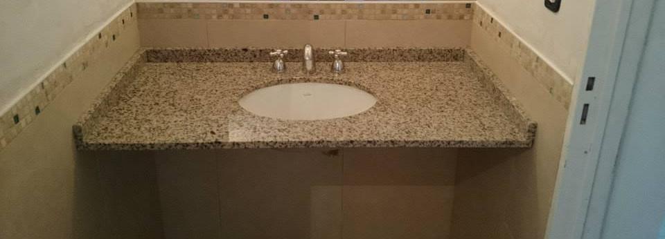 Bachas Para Baño Marca Roca:Mesada de baño y bacha de losa colocada por debajo marca ferrum