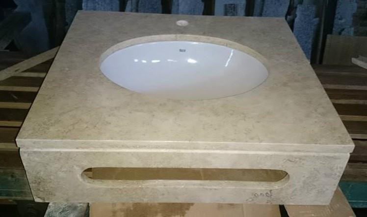 Vanitory con toallero travertino marmoleria zacarias for Travertino roca